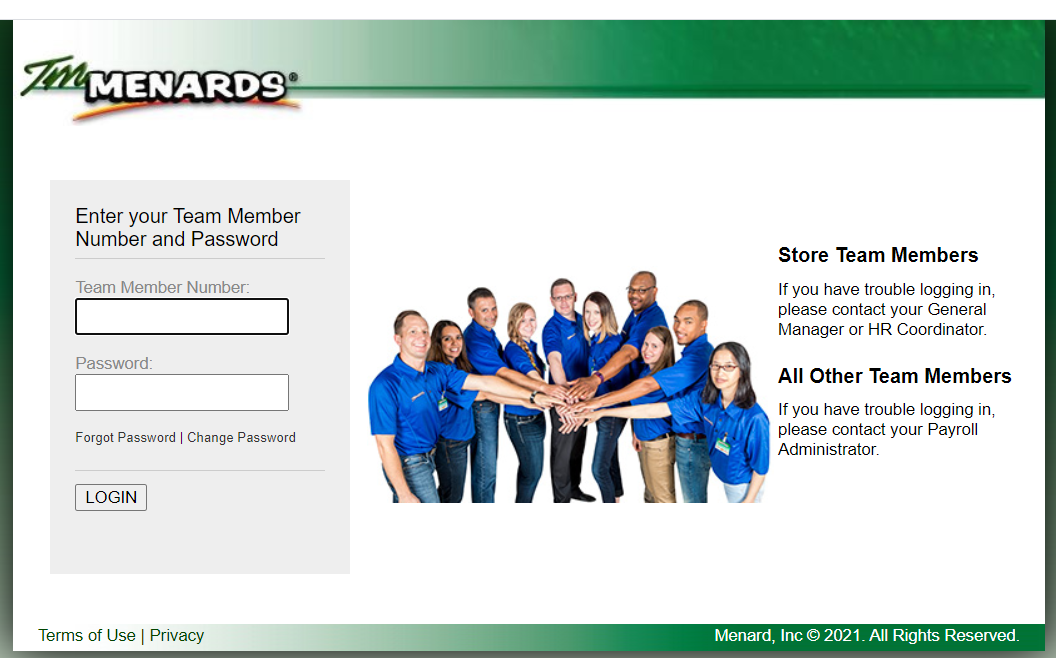 Through TM Menards, Logging Into Employee Portal to check employment information online at the official website or at the official Menard Inc website.